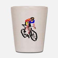 Cyclist Shot Glass