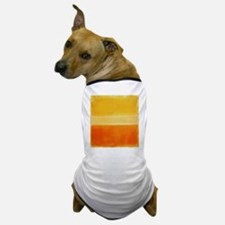 Orange & Shades of Yellow Rothko Dog T-Shirt