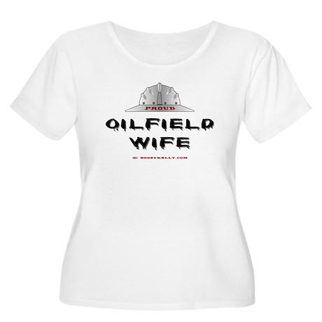 Proud Oilfield Wife Women's Plus Size Scoop Neck T