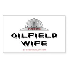 Proud Oilfield Wife Rectangle Decal