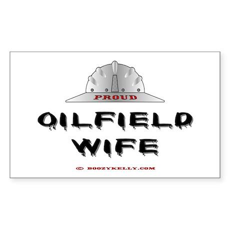 Proud Oilfield Wife Rectangle Sticker