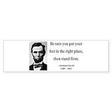 Abraham Lincoln 24 Bumper Bumper Sticker