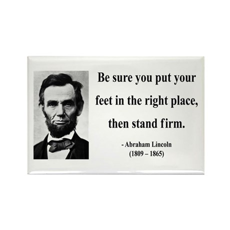 Abraham Lincoln 24 Rectangle Magnet