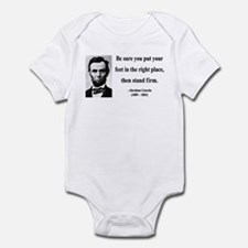 Abraham Lincoln 24 Infant Bodysuit