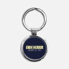 End of an Error Round Keychain