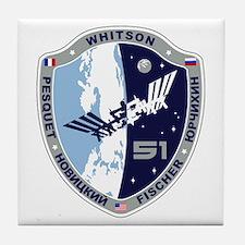 Exp 51 Actual Crew Tile Coaster