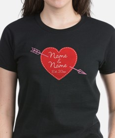 Heart Names Personalized Tee