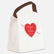 Heart Names Personalized Canvas Lunch Bag