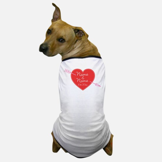 Heart Names Personalized Dog T-Shirt