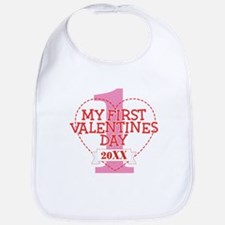 First Valentines Personalized Bib