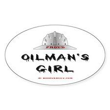 Proud Oilman's Girl. Oval Bumper Stickers