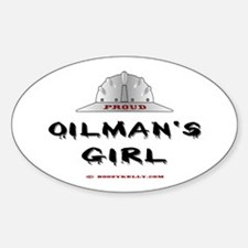 Proud Oilman's Girl. Oval Decal
