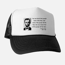 Abraham Lincoln 25 Trucker Hat