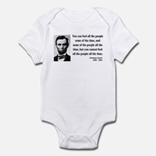 Abraham Lincoln 25 Infant Bodysuit