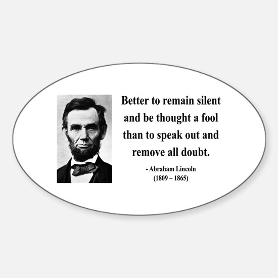 Abraham Lincoln 26 Oval Bumper Stickers
