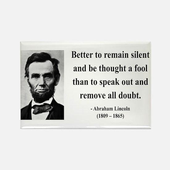 Abraham Lincoln 26 Rectangle Magnet