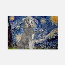 Cute Standard poodle Rectangle Magnet