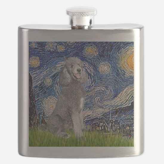 Cute Standard poodle Flask