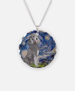 Cute Standard poodle famous painting Necklace