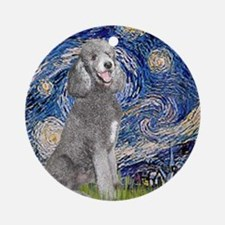 Cute Poodle famous art Round Ornament