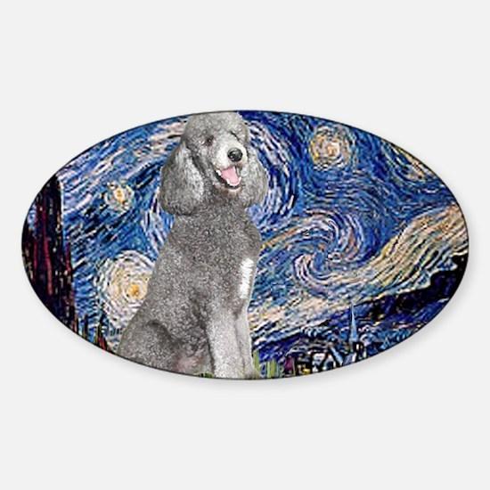 Unique Jean fitzgerald standard poodle Sticker (Oval)