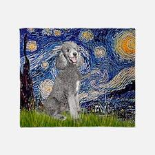 Funny Standard poodle Throw Blanket