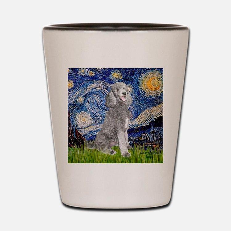 Cute Standard poodle Shot Glass