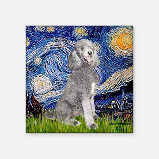 """Cute Jean fitzgerald standard poodle Square Sticker 3"""" x 3"""""""