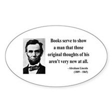 Abraham Lincoln 27 Oval Decal