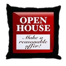 OPEN HOUSE (Make Offer) Throw Pillow