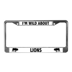 Wild About Lions License Plate Frame