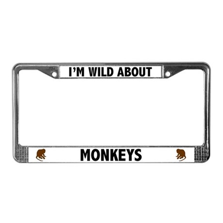 Wild About Monkeys License Plate Frame