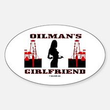 Oilman's Girlfriend Oval Decal