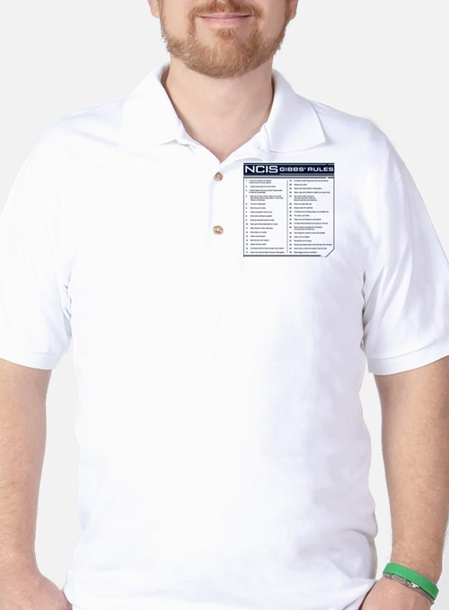 NCIS Gibbs' Rules Golf Shirt