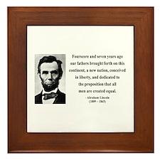 Abraham Lincoln 29 Framed Tile