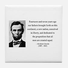 Abraham Lincoln 29 Tile Coaster
