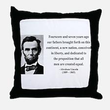 Abraham Lincoln 29 Throw Pillow