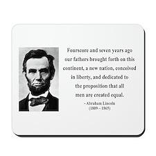 Abraham Lincoln 29 Mousepad