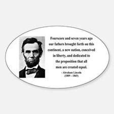 Abraham Lincoln 29 Oval Decal