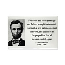 Abraham Lincoln 29 Rectangle Magnet