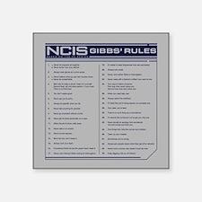 NCIS Gibbs' Rules Square Sticker 3