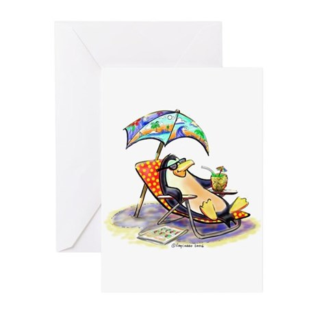 tRoPiCaL pEnGuIn Greeting Cards (Pk of 20)