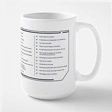 NCIS Gibbs' Rules Large Mug