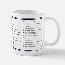 NCIS Gibbs' Rules Small Mugs