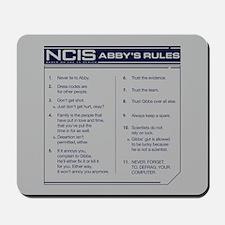 NCIS Abby's Rules Mousepad