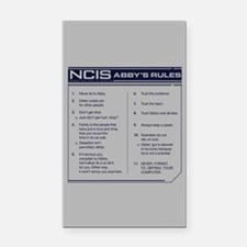 NCIS Abby's Rules Rectangle Car Magnet