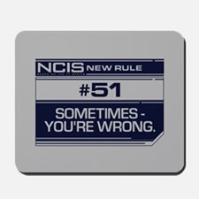 NCIS Rule #51 Mousepad