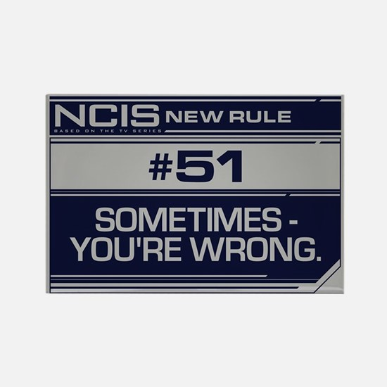 NCIS Rule #51 Rectangle Magnet