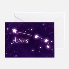 Aries Zodiac Constellation Greeting Card