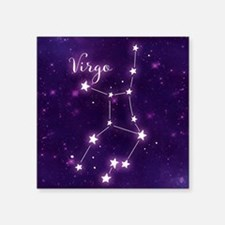 "Virgo Zodiac Constellation Square Sticker 3"" x 3"""